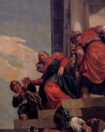 Banishment of Vashti (1556), (Detail), oil on canvas by Paolo Veronese Courtesy Church of San Sebastiano, Venice [wga.hu]