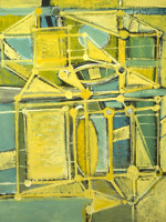 Yellow Ark (1975), oil on canvas by Ben Wilson Courtesy Chassidic Art Institute